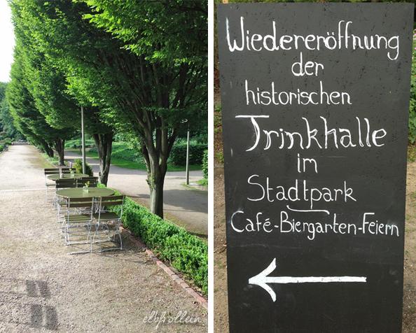 Geheimtipp vom Liebsten: das Café in der Trinkhalle imStadtpark