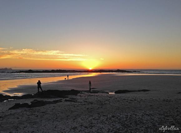 Sonnenuntergang Bloubergstrand