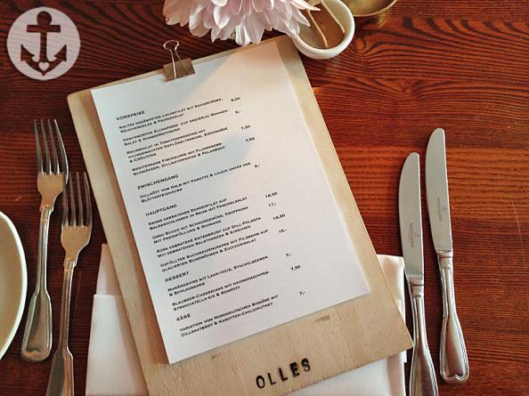 Olles Restaurant Speisekarte